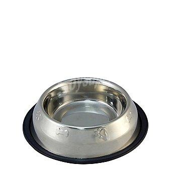 Comedero para Perro Inoxidable Antideslizante Decorado 0,45 l