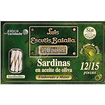 Lobueno Sardinillas en aceite de oliva 12-15 piezas Lata 81 g neto escurrido