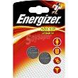 Pila botón CR 2016 lithium 3V blister 2 unidades blister 2 unidades Energizer