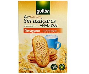 Gullón Galletas desayuno con cereales integrales y edulcorante Caja 216 g