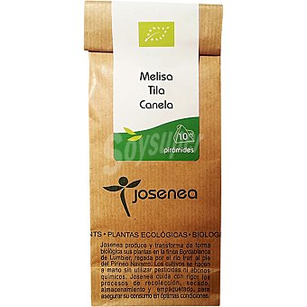 JOSENEA Infusión de melisa tila y canela Bio 10 sobres envase 20 g Envase 20 g