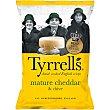 Patatas fritas artesanas inglesas con queso cheddar y polvo de cebolla bolsa 150 g bolsa 150 g Tyrrells