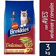 Pienso para gatos adultos con selección de aves y verduras Delicious Bolsa 3 kg Brekkies Affinity