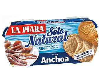 La Piara Sólo Natural Paté de anchoa Pack 2 u x 77 g