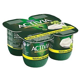 Activia Danone Yogur Bifidus de Soja Natural 4 unidades de 125 g