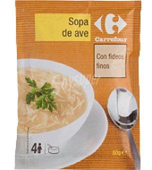 Carrefour Sopa de ave deshidratado con fideos finos 80 g
