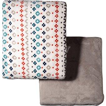 Unit Jaquard juego de sabanas extra suave estampado geometrico para cama 105 cm