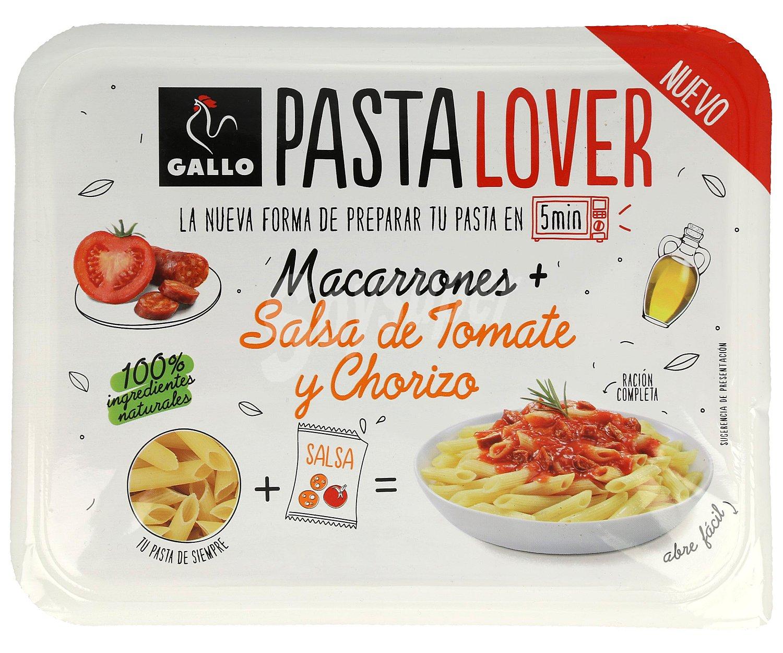 gallo pasta lover macarrones m s salsa tomate y chorizo 180 gr