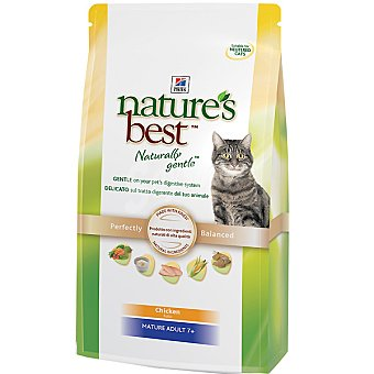 HILL'S NATURE'S BEST MATURE Alimento especial formulado para cubrir las necesidades de gatos de + 7 años Bolsa 2 kg
