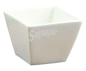 QUID Chef Bol cuadrado fabricado en porcelana blanca especial para aperitivos Chef, 7,5x7,5cm. quid