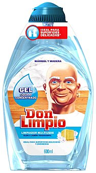 Don Limpio Gel limpiador superficies delicadas 600 Mililitros