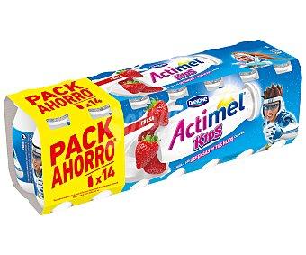 Actimel Danone Yogur líquido Lactocasei Imunitass sabor a fresa Pack 14 u x 100 g