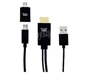 TNB HDMIMHL1 Cable MHL para Tv, conexión microusb a Hdmi, 2m de longitud, compatible con dispositivos Android,