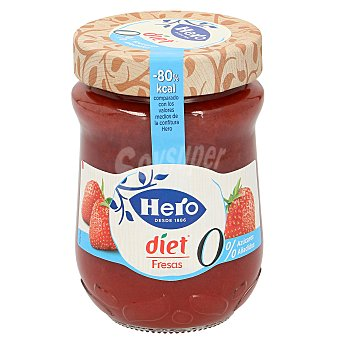 Hero Diet mermelada de fresas Frasco 280 gr