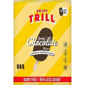 Enjoy Helado de chocolate recubierto de crujiente chocolate sin lactosa trill Envase 3 unidades