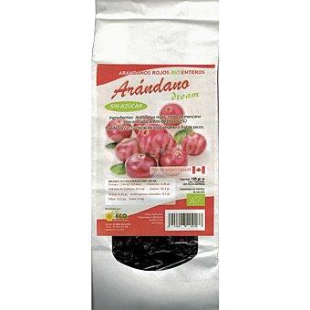 DREAM FOODS Conserva de arándanos rojos enteros en zumo de manzana Bio  envase de 125 g