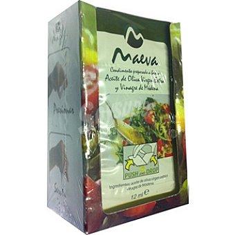 Maeva Aliño de aceite de oliva virgen y vinagre de Módena en monodosis Pack 10 envases 12 ml