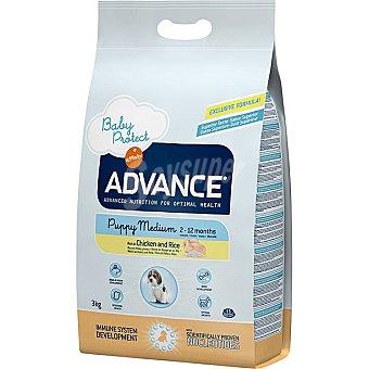 Advance Affinity Puppy medium pienso de alta gama para perros cachorros 2-12 meses de raza mediana bolsa 3 kg rico en pollo y arroz Bolsa 3 kg