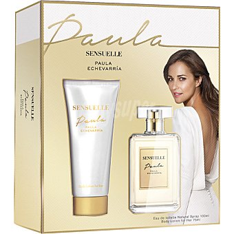 Paula Echevarría Sensuelle eau de toilette natural femenina spray 100 ml + body lotion tubo 75 ml tubo 75 ml