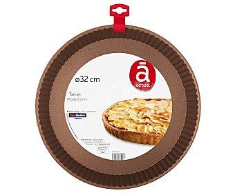 Actuel Molde de metal con recubrimiento interior antiadherente especial para tartas, 32cm. actuel