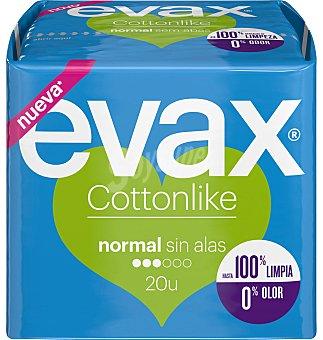 Evax Compresa cottonlike normal sin alas 20 unidades
