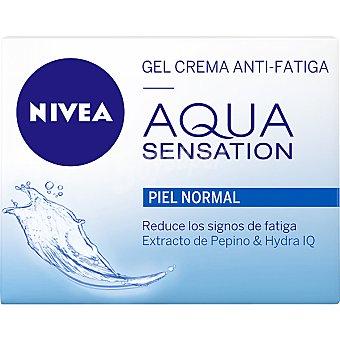 Nivea gel crema ani-fatiga con extracto de pepino & hydra IQ tarro 50 ml reduce los signos de fatiga para piel normal Agua Sensation Tarro 50 ml