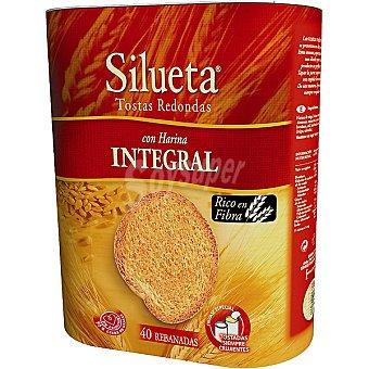 Silueta Bimbo Tostas redondas integrales Paquete 300 g (40 unidades)
