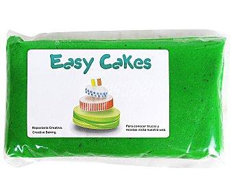 EASY CAKES Pasta de azúcar de cobertura y modelage de color verde 250 gramos