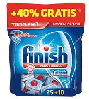 FINISH CALGONIT Lavavajillas máquina todo EN 1 25 pastillas