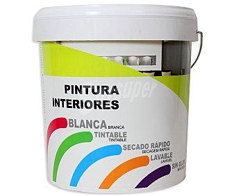 Productos Económicos Alcampo Pintura para interior, de color blanco y con acabado mate 10 litros