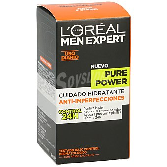 L'OREAL MEN EXPERT Pure Power crema cuidado hidratante anti-imperfecciones  dosificador 50 ml