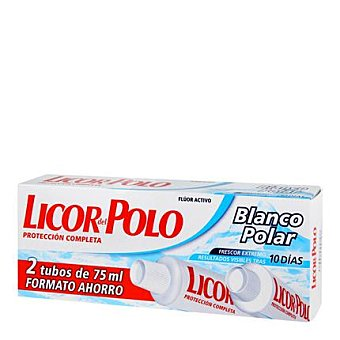 Licor del Polo Dentífrico blanqueador Intenso Pack 2x75 ml