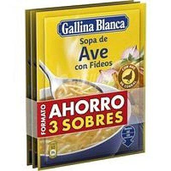 Gallina Blanca Sopa de ave con fideos Pack 3x97 g