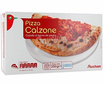 Auchan Pizza calzone con jamón y queso 250 gramos