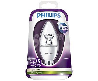 Philips Bombilla led vela 3 Watios, con casquillo E14 (fino) y luz cálida 1 unidad