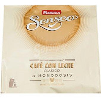Marcilla Café con Leche Clásico Senseo 8 monodosis