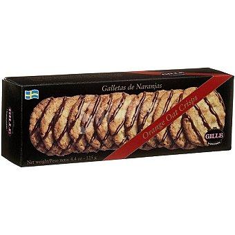 Gille Galletas suecas de naranja bañadas con una fina capa de chocolate caja 100 g caja 100 g