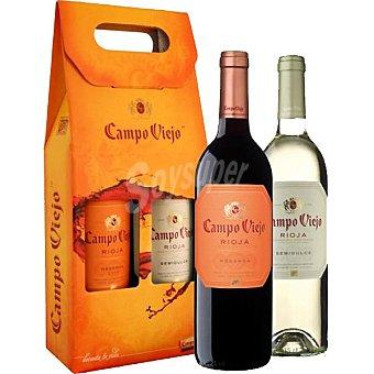 Campo Viejo vino tinto reserva D.O. Rioja + regalo vino blanco semidulce D.O. Rioja botella 75 cl