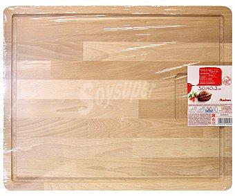 Auchan Tabla de madera con surco, 50x40x2,5 centimetros 1 Unidad