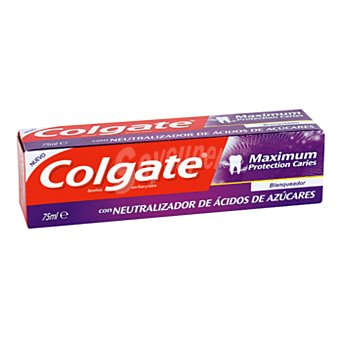 Colgate Dentífrico maximum protección caries blanqueador Tubo 75 ml