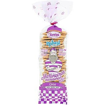 DAVEIGA Mariñeiras Crackers con chía 0% azúcares añadidos Bolsa 200 g