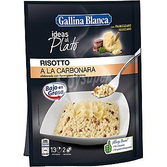 GALLINA BLANCA Ideas Al Plato Preparado para cocinar risotto a la carbonara con parmigiano-reggiano sobre 175 g 2 raciones bajo en grasa Sobre 175 g