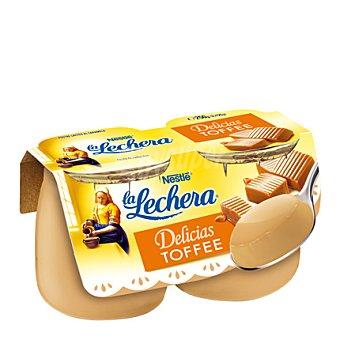 La Lechera Nestlé Postre lácteo de toffe Pack 2x125 g