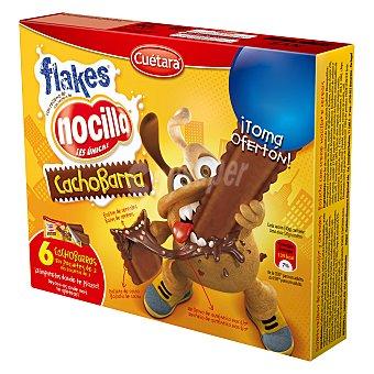 Cuétara galletas de cacao rellenas de Nocilla con bolitas de cereales  2 paquetes - 6 unidades de 90 g