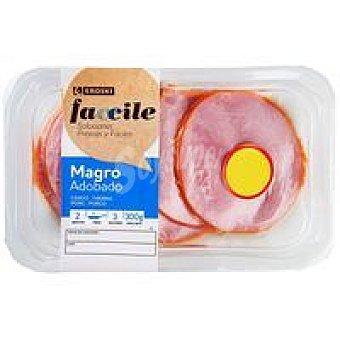 Eroski Faccile Magro de cerdo adobado fileteado Bandeja 300 g