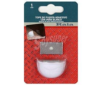 RAIA Tope Retenedor Adhesivo con Imán, Color Blanco 1 Unidad