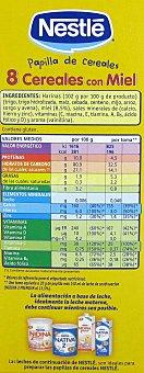 Nestlé Papilla con 8 Cereales y Miel 900 Gramos