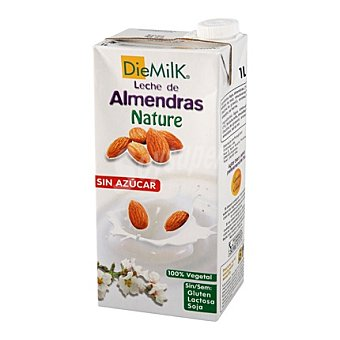 Diemilk Bebida almendras nature sin azucar - Sin Gluten 1 l