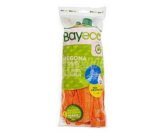 Bayeco Fregona de microfibra y tiras con gran capacidad de absorción y resistencia 1 ud