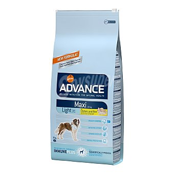 Advance Affinity Pienso para perros adultos grandes Advance maxi light pollo y arroz Saco 15 kg